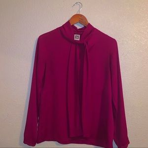 Gorgeous Hot Pink/Maroon Blouse
